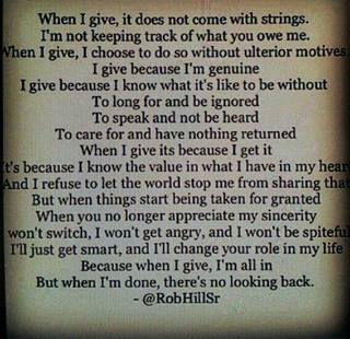 I GIVE BECAUSE i'M GENUINE